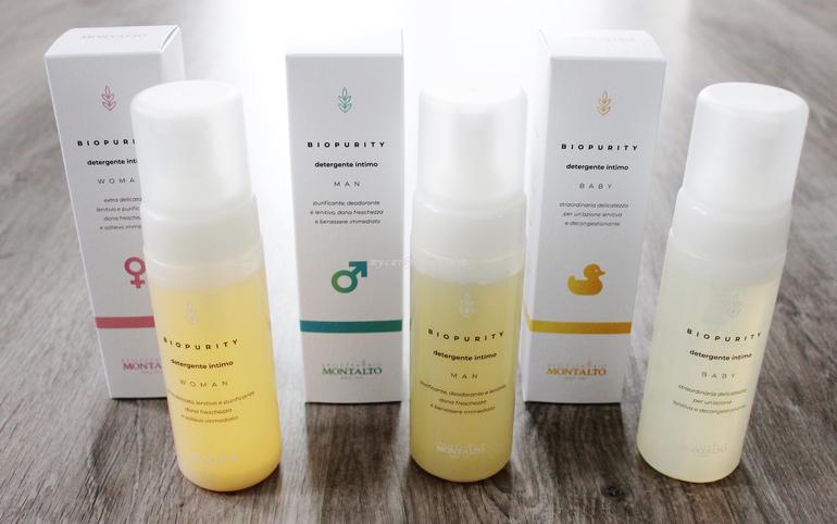 Biopurity detergente intimo Woman, Man e Baby Montalto