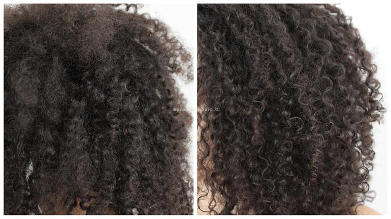 Prima e dopo capelli mycurlycolours