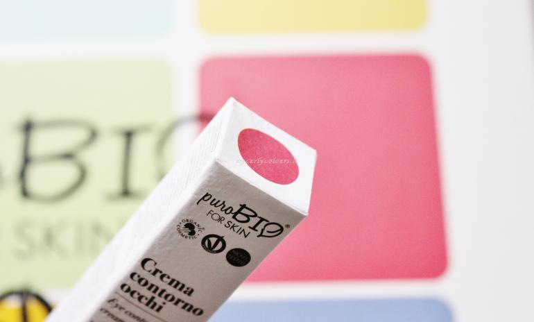 Dettaglio packaging Crema Contorno Occhi PuroBio FOR SKIN