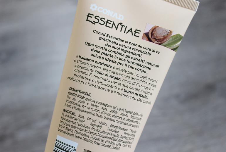 INCI e specifiche Balsamo Nutriente Conad Essentiae