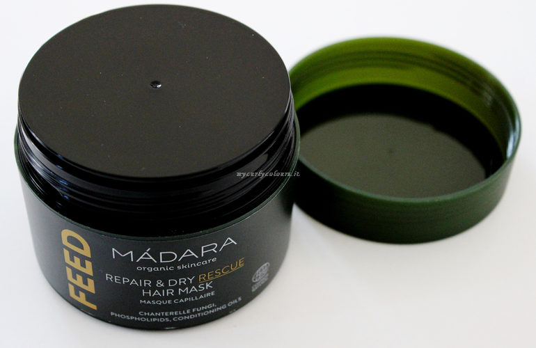 Dettaglio packaging Feed Hair Mask Madara