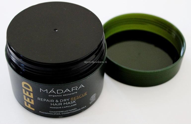 Dettaglio packaging Feed Hair Mask Madara