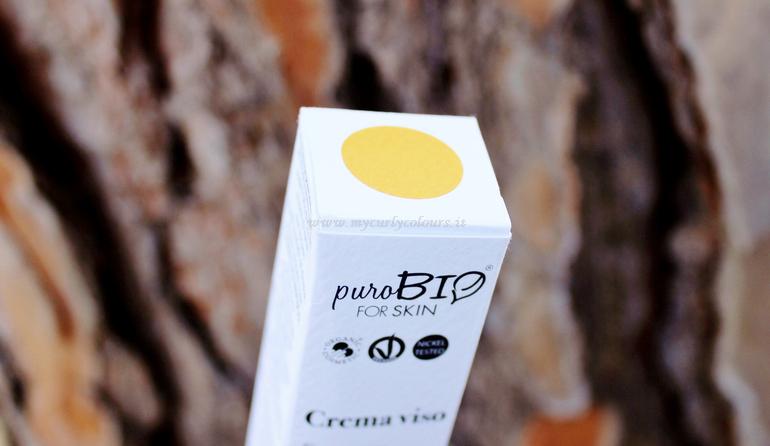 Dettaglio packaging Crema viso idratante pelle secca PuroBIO FOR SKIN
