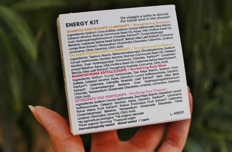 INCI Energy Kit CO.SO. Cosmetici solidi Officina Naturae