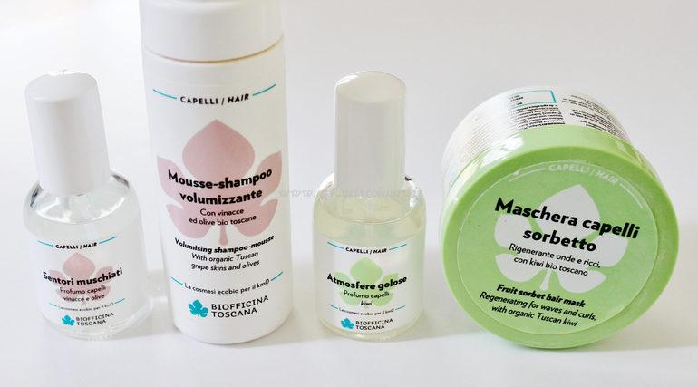 Profumi capelli Biofficina Toscana abbinati alle linee capelli