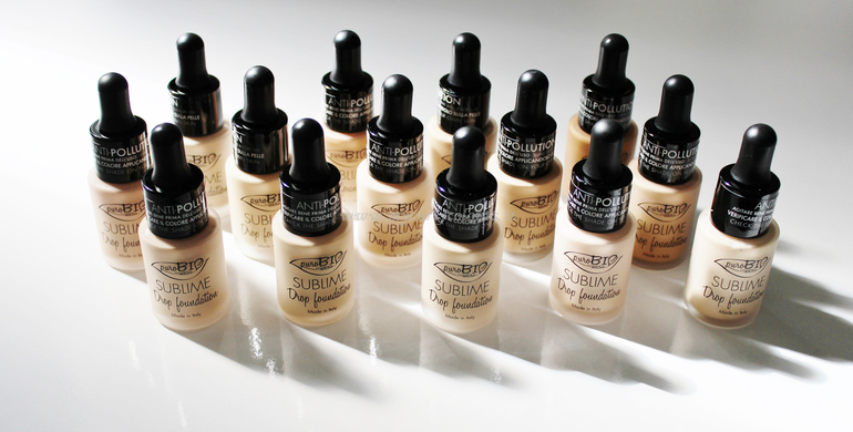 14 Tonalità sublime drop Foundation PuroBio Cosmetics