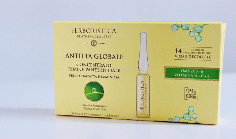Concentrato Rimpolpante in Fiale Antietà Globale L'Erboristica di Athena's