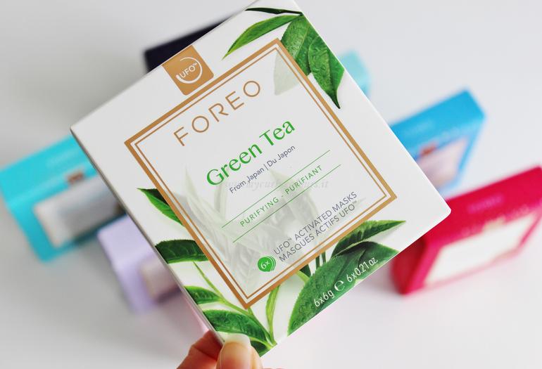 Maschera Viso Foreo Green Tea