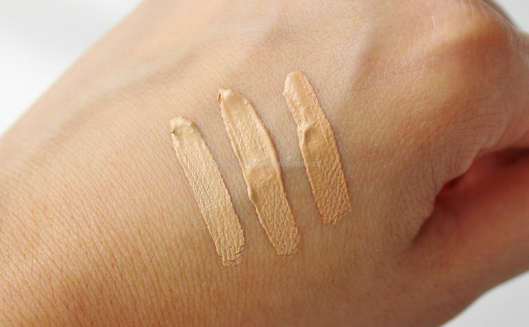 Swatch tonalità 02 - 2.5 - 03 SUBLIME Luminous Concealer PuroBIO Cosmetics