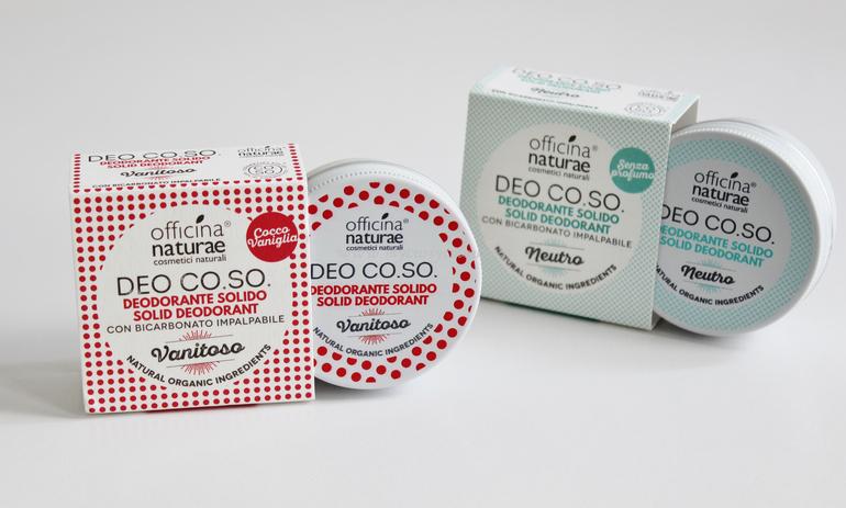 DEO CO.SO. Officina Naturae Vanitoso e Neutro packaging