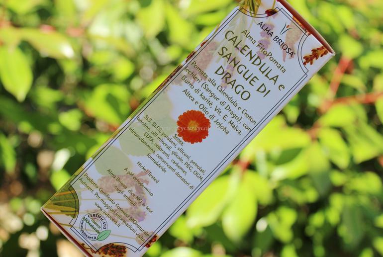 Packaging secondario FitoPomata Calendula e Sangue di Drago Alma Briosa
