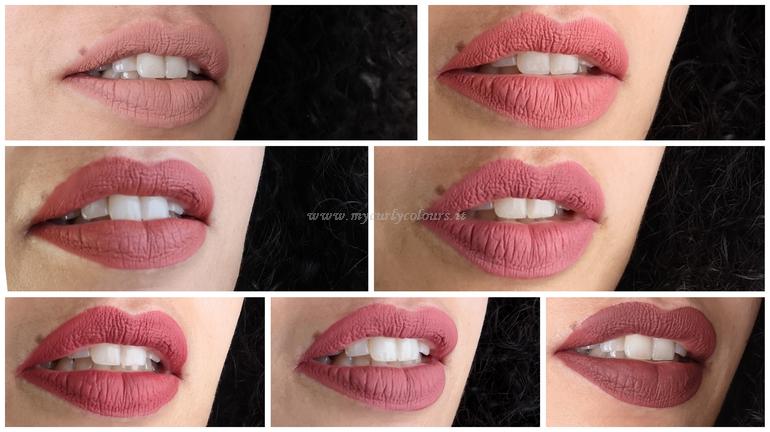Lip Swatch Mycurlycolours nuovi colori Liptint 2020