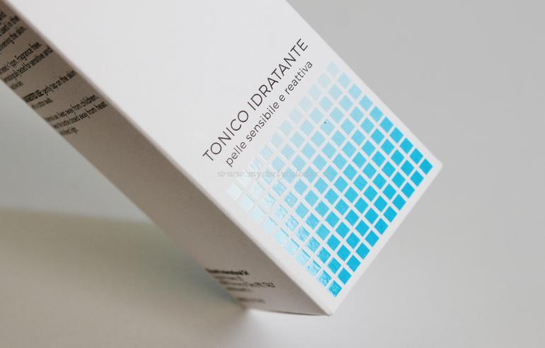 Dettagli gommati packaging Tonico Idratante Aloebase Sensitive Bioearth