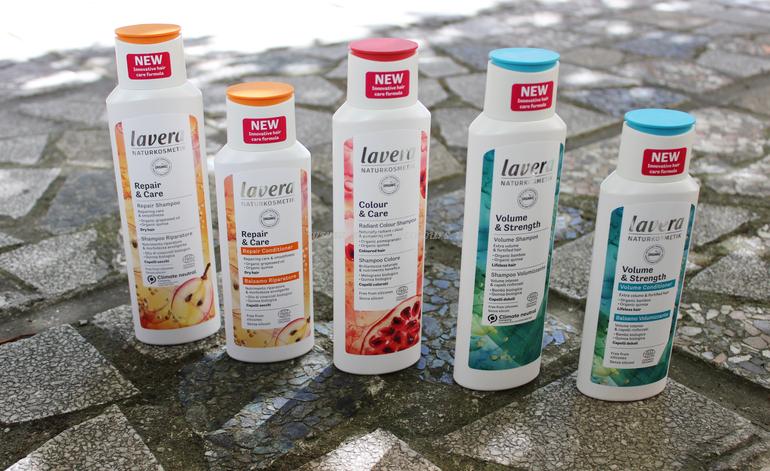 Linea capelli shampoo e balsamo Lavera Naturkosmetik