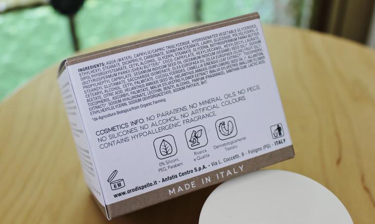 INCI Crema Viso 24 H Idratante Vellutante Oro di Spello
