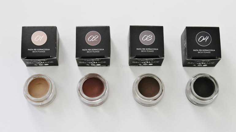 BrowMade PuroBIO Cosmetics packaging e tonalità