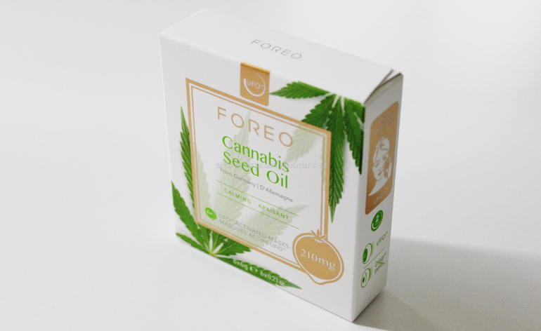 Packaging Cannabis Seed Oil Foreo Mask