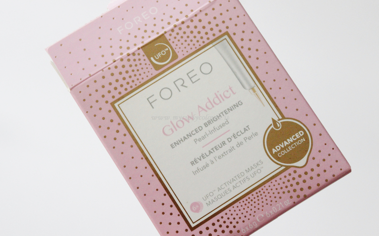 Packaging Glow Addict Foreo Mask