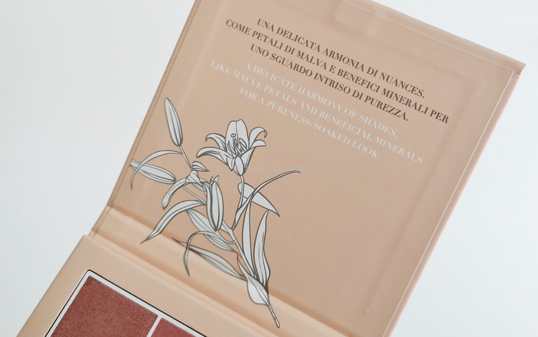 Dettaglio interno packaging Eyes Palette Astra