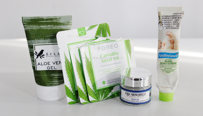 Aloe Vera Gel Eclat - Foreo Mask Cannabis Seed - Sicilia Casa Mencarelli - Crema Protettiva babylove