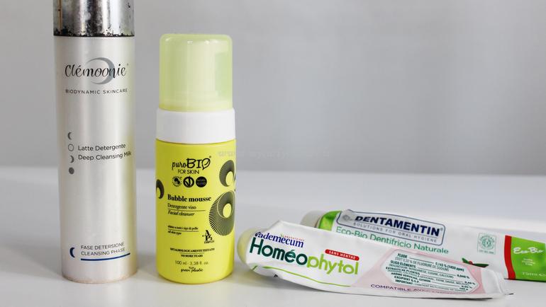 Latte detergente Clémoonie Bubble Mousse PuroBIO e dentifrici naturali