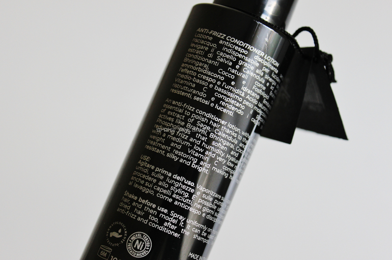 Specifiche packaging Anti-Frizz Conditioner Lotion Soft Hair Styling Eterea