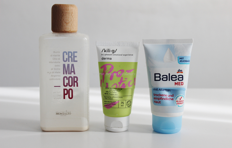 Prodotti finiti corpo - Crema corpo Montalto, crema mani Kilig e Balea MED