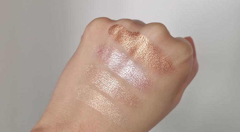 Swatch illuminanti palette Wow! Glow Mesauda