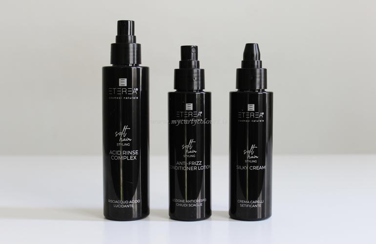 Prodotti per capelli linea Soft Hair Styling Eterea