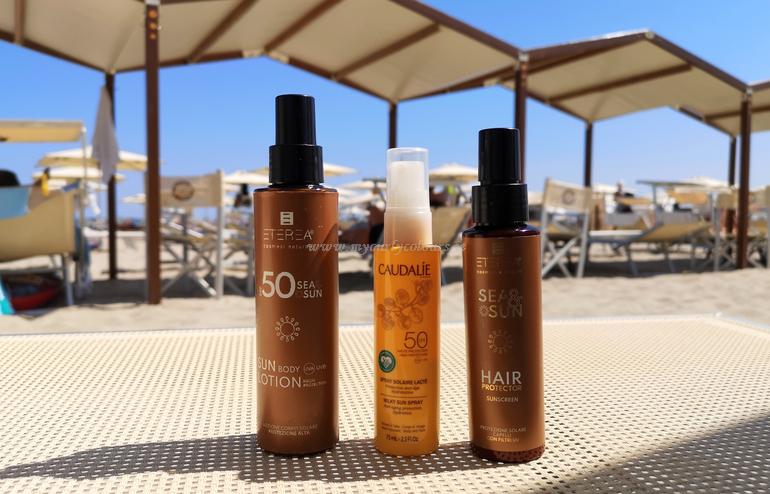 Solari corpo e protettore per capelli spray